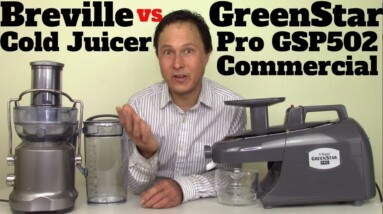Breville Juice Fountain Cold BJE430 vs Green Star Pro Twin Gear Slow Juicer Comparison Review