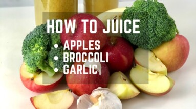 HOW TO JUICE APPLES BROCCOLI & GARLIC (PHYTOFIT) WITH THE PURE JUICER